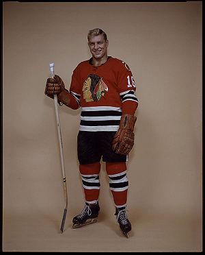 {{en Bobby Hull of the Chicago Black Hawks hoc...
