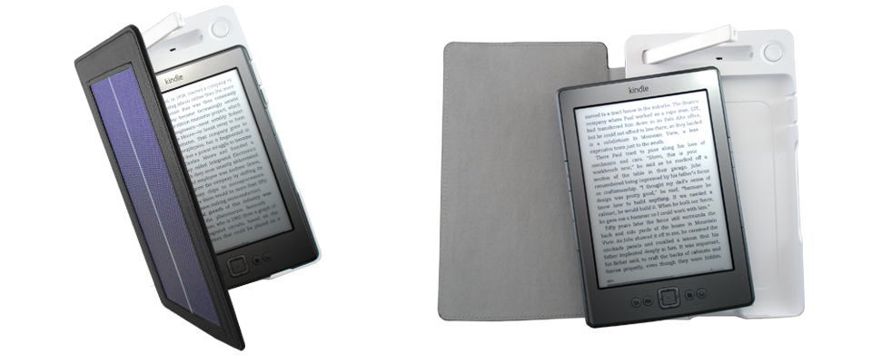 World's First Solar Powered Kindle Cover from Solarmio 1