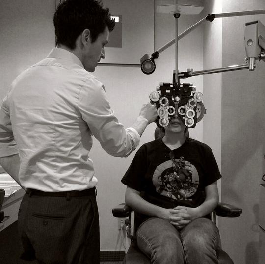 Healthy eyes (exam)