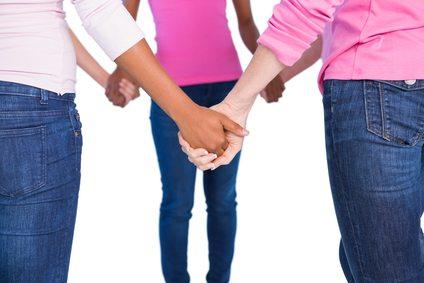 Women wearing pink