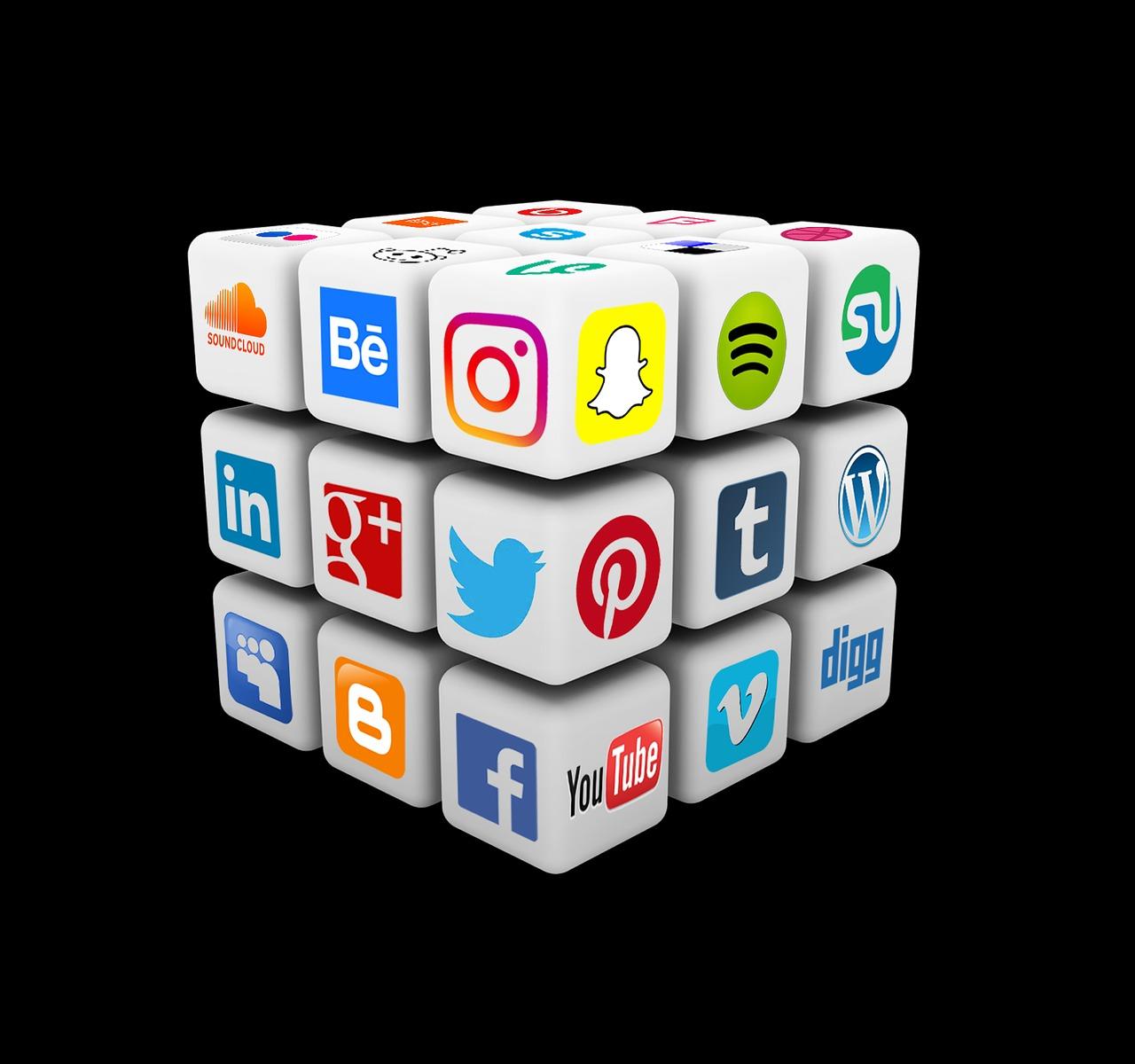Social Media Rubik Cube